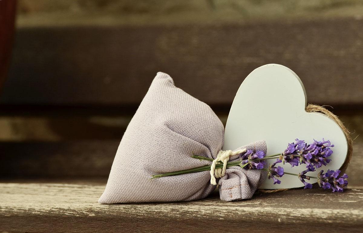 Säckchen mit Lavendelblüten