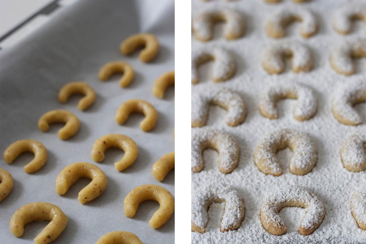 Vanillekipferl im entstehen, © Verena Pelikan