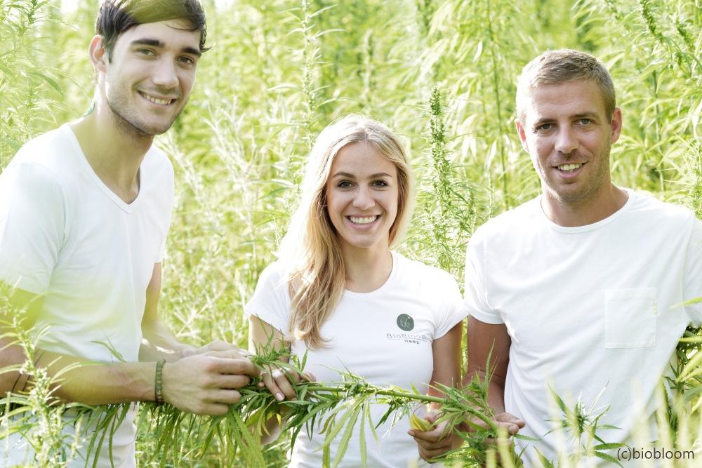 Das BioBloom Team aus Apetlon: Christoph Werdenich, Elisabeth Denk und Thomas Denk