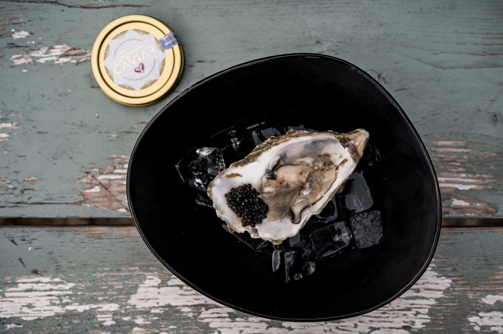 Austern und Romeo Caviar